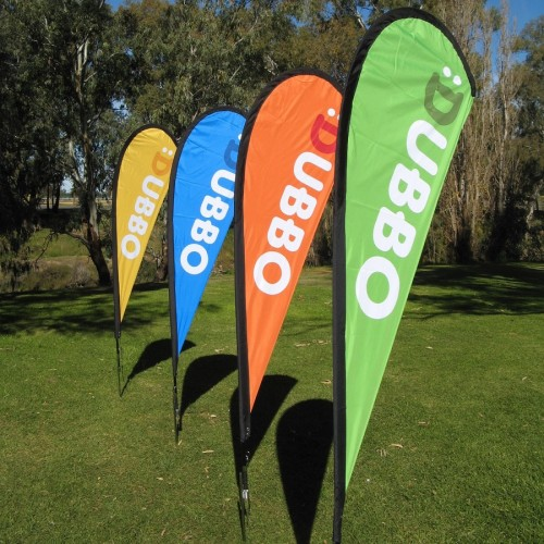 Custom polyester teardrop advertising banner flags