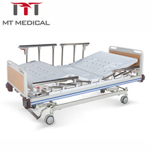 Three Funtions 4 crank manual hospital bed adjustable roll up stand hospital bed