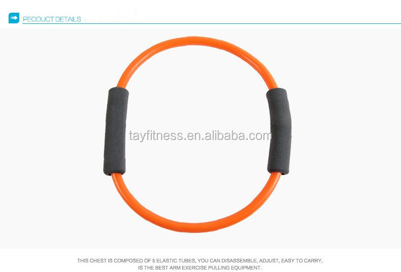 8 Shape Resistance Latex Elastic Tube Soft Chest Expander Exercises