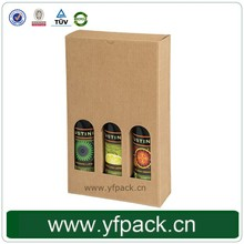 Cheap Corrugated Paper Packaging Box for 3 Olive Oil Bottle