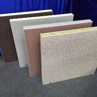Outside facade decorative finishing cladding insulation panel fiber cement