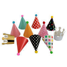 Partigos 11pcs/set Party Hats, Lovely Paper Cone Birthday Party Hats for Children and Adults, Fun Birthday Jamboree Party Hats