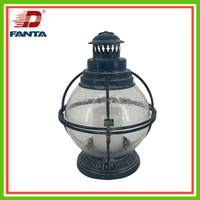 Hot selling shabby chic metal & glass nautical lamp with LED light for home decor