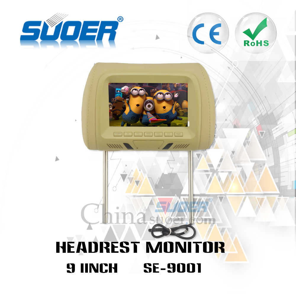 Suoer High quality 9 Inch car tv player car back seat headrest monitor