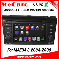 Wecaro WC-MZ7003 android 4.4.4 car audio for mazda 3 dvd player 2004 - 2009 3G wifi playstore