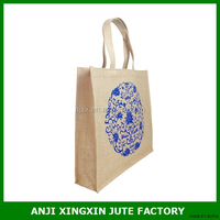 manufacturer jute packing bag printing your logo on your front side