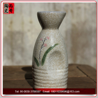 Mini ceramic wine bottle porcelain vessel