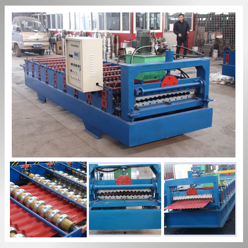 Chinese manufacture corrugated metal roofing sheet roof cold roll forming machine with CE&ISO