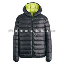 compressable lightweight casual down jacket men's 100%polyester down jacket coat (AM1321)