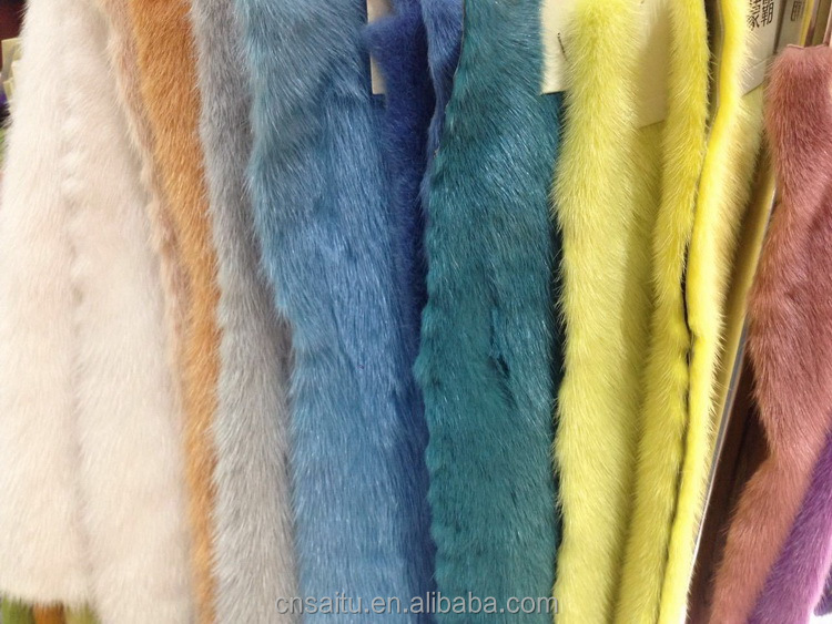 Factory Supply Dyed Colors Mink Fur Pelt Skin Original Dalian Female/Male
