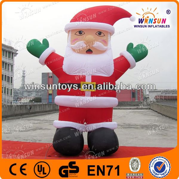 Popular design christmas toy inflatable santa claus toy