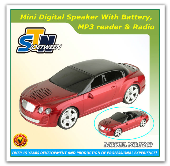 Portable mini car touch screen bluetooth speaker