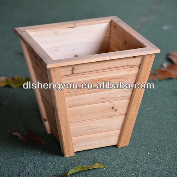 Tall and Large Widely Used Wooden Planter /Flower Pot for Sale