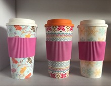 customer print BPA free 16OZ / 450ML reusable double wall insulated PP plastic coffee cup with screw lid