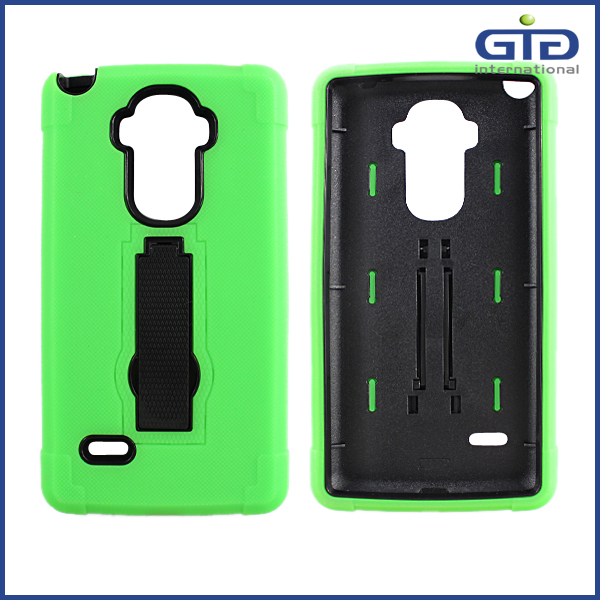 Vertical Kick Stand Case Cover for LG G4 Note , PC + TPU Mobile PHone Case for LG G4 with Holder