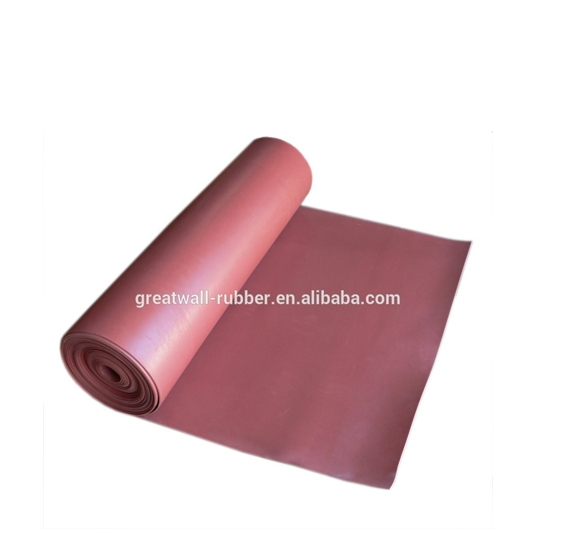 High Quality 65Duro Red SBR Rubber Sheet (Sheet of rubber) smooth both sides,ISO 9001