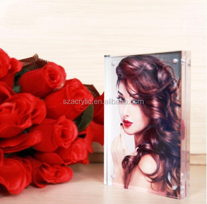 high quality clear acrylic magnet photo frame