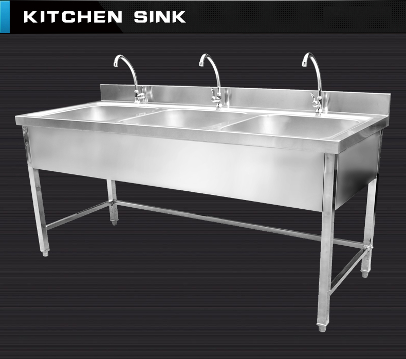 Stainless Steel Triple Bowl Kitchen Sink View Stainless Steel Kitchen Sink Huanan Product