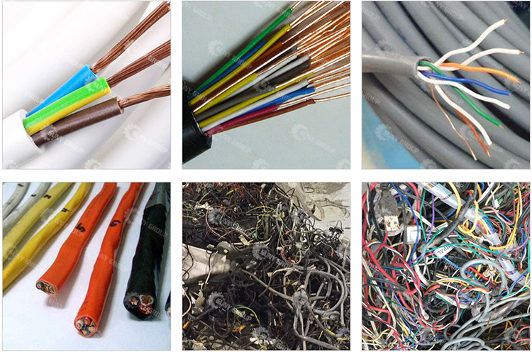 Electric Waste Wire Separating Machine Copper Cable Wire Scrap Separator