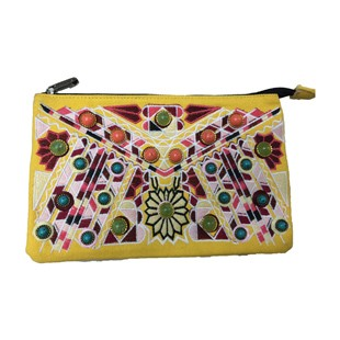 European US woman ladies ethnic tribal style canvas messenger bag