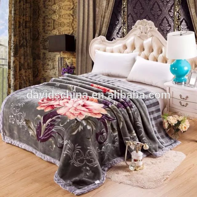 Bestselling Products Super Soft High Quality Embossed Raschel Knitting Blankets