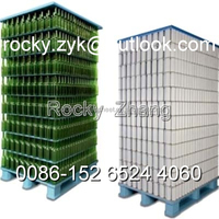 strong PP corrugated sheet corrugated bottle divider pallet board