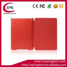 super slim auto sleep wake Magnet Smart case cover for ipad mini 1/2/3 leather case red color Plastic protective