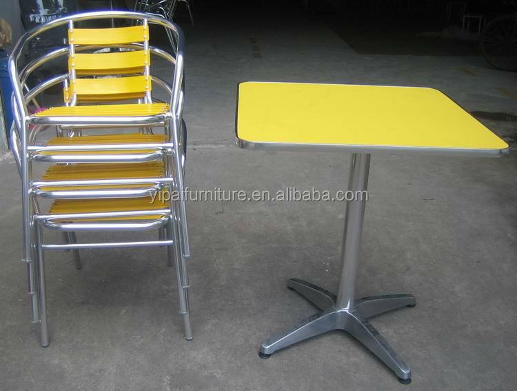 Hotel overdekt terras stoel en tafel met vuurvaste raad yc001a yt31a metalen meubelen sets - Overdekt terras in aluminium ...