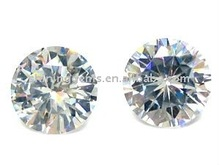 full shining round cut AAA white cubic zirconia / micro CZ gemstones