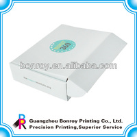Bulk clear white cheap cardboard custom printed paper corrugated shoe box
