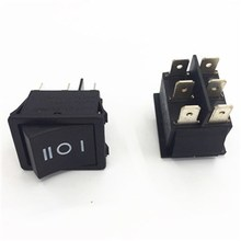 Qijia high quality 6 pin t125 rocker switch 125V 250V 16a