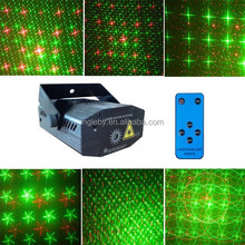 130mw red and green amazing mini home laser light show equipment