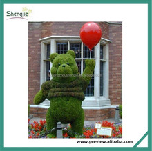 Artificial topiary grass animal for decoration