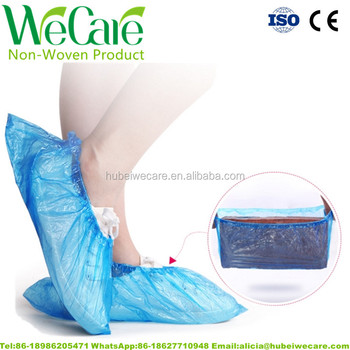 hot sell!foot protection/protect PP+CPE shoe cover(shoe shield) for medical,daily and surgical use