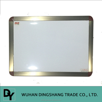Schools and offices brown aluminum frame magnetic dry erase board