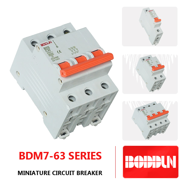BDM7 WITH 63 LG 63A 3P SMART MINIATURE CIRCUIT BREAKER MCB
