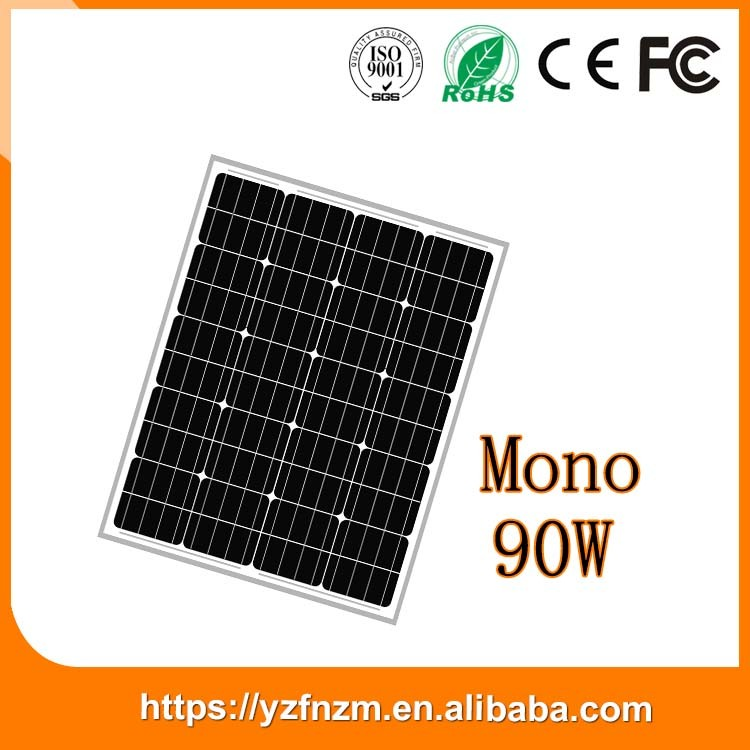 factory price monocrystalline silicone solar panel 90w made in China