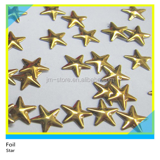 Wholesale Gold Color Star Shape Metal Rhinestone For Bag