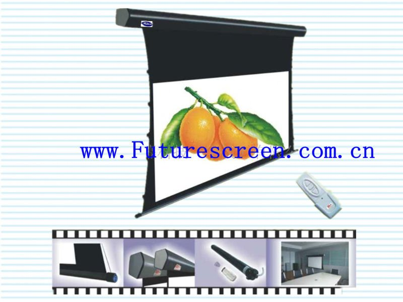 portable luxury tab-tension projector screen with spring tightens system