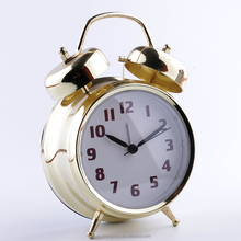 Wholesale Factory Price 3 inch gold color Table Alarm clock Fashion Metal Two Bell Good Quality Children Clock