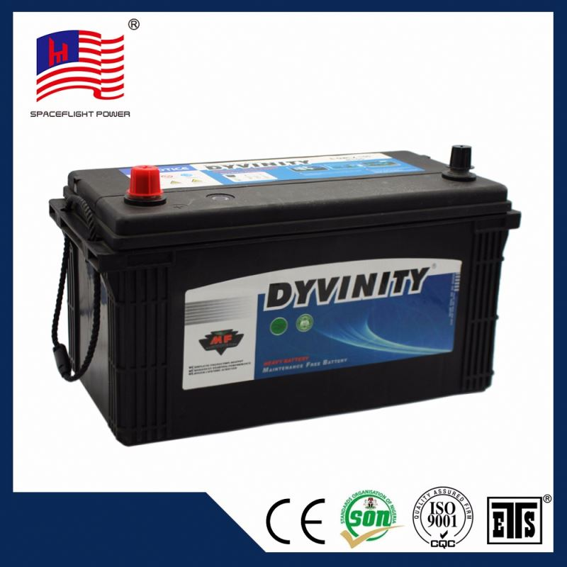 Manufacturer N100 JIS style ISO 12v 100ah car battery