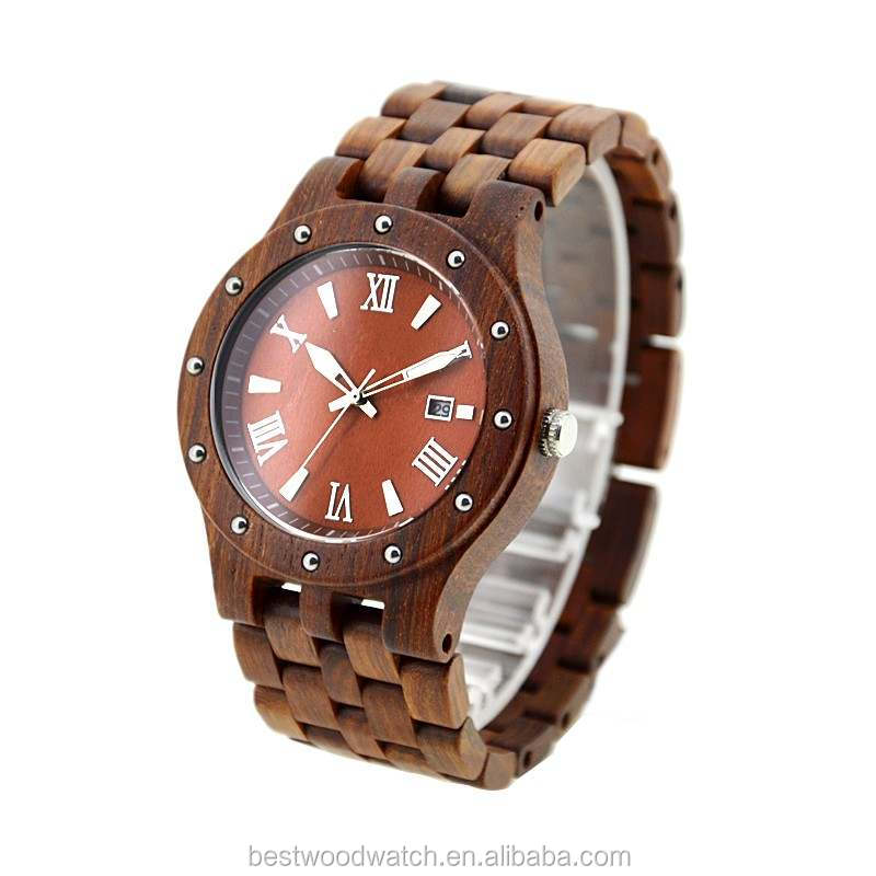 2017 newest model wood watch, wood watch made in China , hot selling charming men's watch