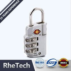 Brass steel tsa luggage key combination padlock