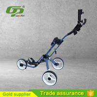 High quality cheap Push Golf Trolley with umbrella holder