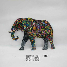 elephant flat metal wall tin sign