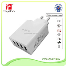 25W Multi-Port Quad USB 4 Port Wall Charger For iPhone 6