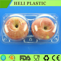 plastic packaging clear apple fruit box/container