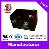 2015 hot sale worldwide with UL battery 12v AGM battery, deep cycle 12v 12ah battery Chinese Factory