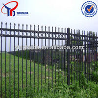 rotatable galvanized and pvc coated steel fence