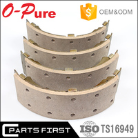 ISO/TS 16949:2009 E-MARK auto non-asbestos front rear axle brake shoe for Korean car Hyundai